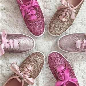 Keds for Kate spade pink  sparkle tennis shoe 5.5